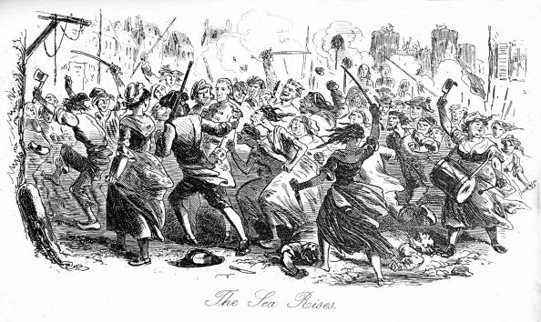 絵「Charles Dickens's 'A tale of two cities' : The sea rises -」:写真・画像(12)[壁紙.com]
