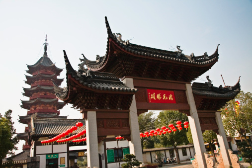 Chinese Lantern「China, Suzhou, Ancient North Temple Pagoda」:スマホ壁紙(9)