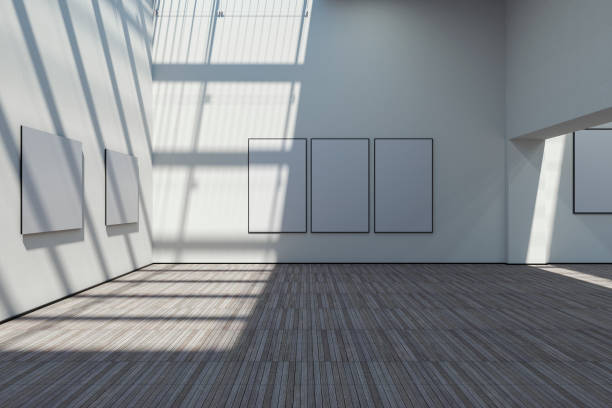 Empty art gallery:スマホ壁紙(壁紙.com)