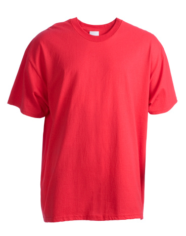 Marketing「Red, blank, short sleeved t-shirt front-isolated on white」:スマホ壁紙(0)