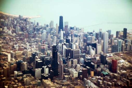 Tilt-Shift「Aerial of Downtown Chicago, Tilt Shift」:スマホ壁紙(9)