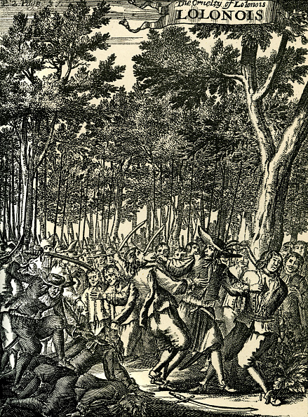 Engraving「The Cruelty of Lolonois, engraving.」:写真・画像(12)[壁紙.com]