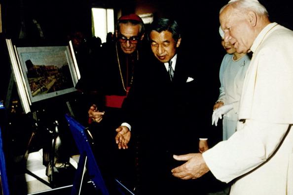 Empress Michiko「John Paul II Meets Emperor Of Japan」:写真・画像(13)[壁紙.com]