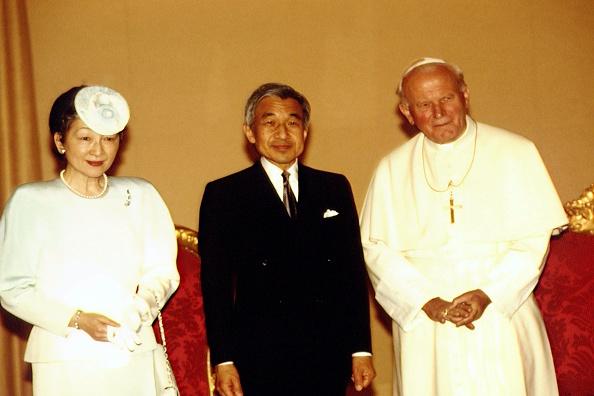 Empress Michiko「John Paul II Meets Emperor Of Japan」:写真・画像(7)[壁紙.com]