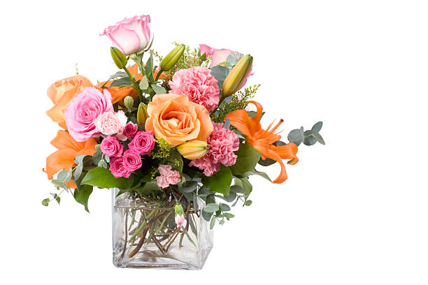 A large bouquet of multicolored flowers of different species:スマホ壁紙(壁紙.com)