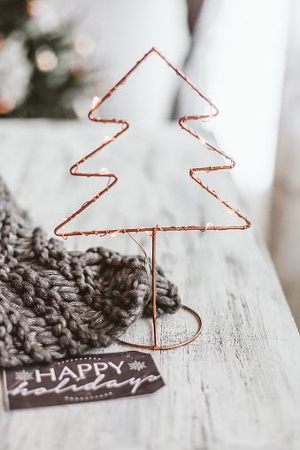 スカーフ「Christmas tree decoration」:スマホ壁紙(16)