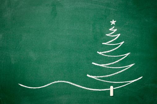 Chalk - Art Equipment「Christmas tree on the blackboard」:スマホ壁紙(13)