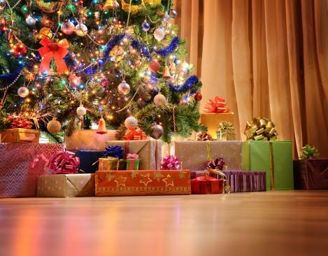 お正月「クリスマスクリスマスツリー」:スマホ壁紙(13)