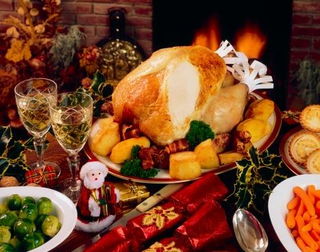 Christmas Cracker「Christmas Turkey Dinner With Wine」:スマホ壁紙(12)