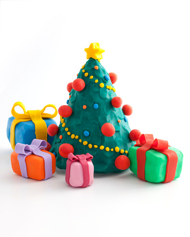 Congratulating「christmas tree with a presents」:スマホ壁紙(6)