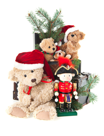 Doll「Christmas Toys With Teddy Bear and Ornaments」:スマホ壁紙(6)