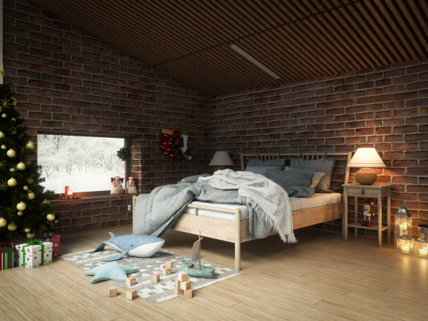 Christmas Themed Bedroom:スマホ壁紙(壁紙.com)