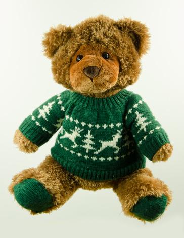 Stuffed Animals「Christmas teddy bear in a sweater」:スマホ壁紙(19)