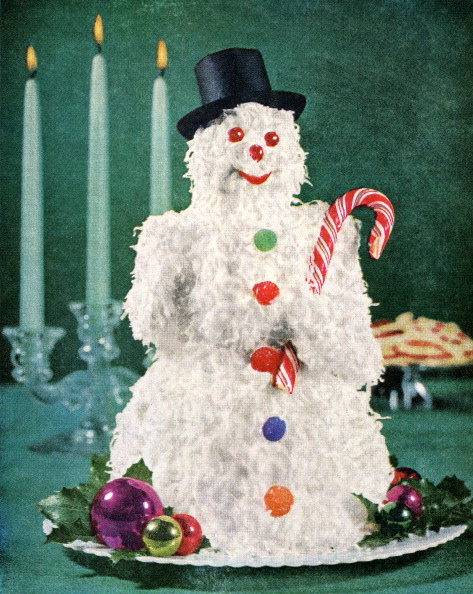 Christmas「Coconut Cake In Snowman Shape」:写真・画像(11)[壁紙.com]