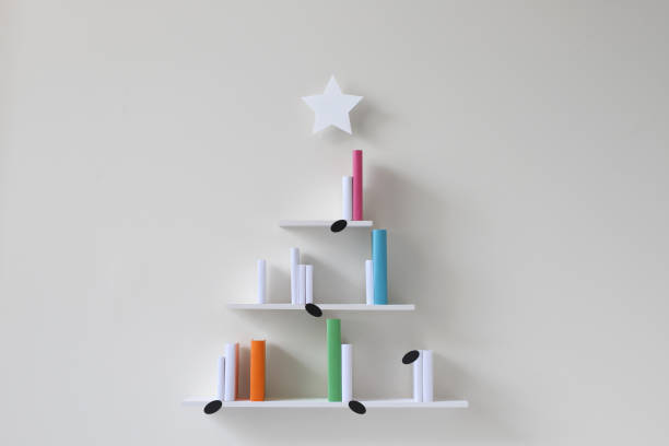 Christmas tree musical bookshelves:スマホ壁紙(壁紙.com)