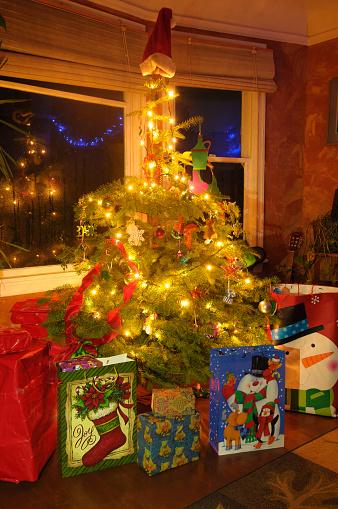 Decoration「Christmas Tree with Presents - Portland, Oregon」:スマホ壁紙(15)