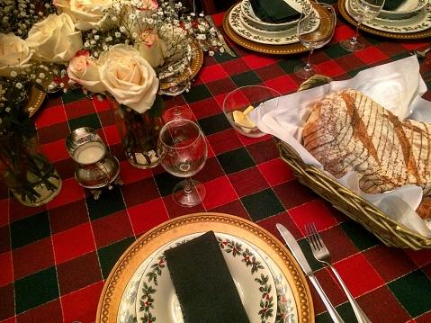 Tartan check「Christmas table set up.」:スマホ壁紙(0)