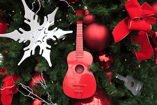 Guitar「Christmas tree decorations with a guitar model」:スマホ壁紙(8)