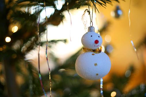 雪だるま「Christmas tree decorations」:スマホ壁紙(13)