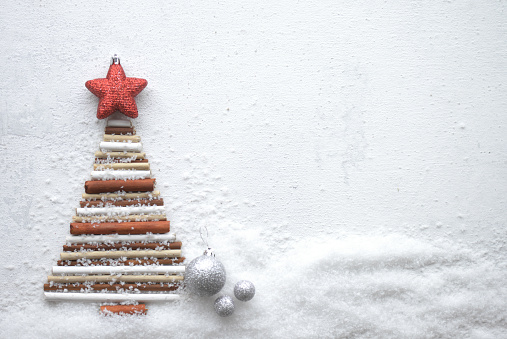 Blinking「Christmas tree and Christmas decoration」:スマホ壁紙(8)