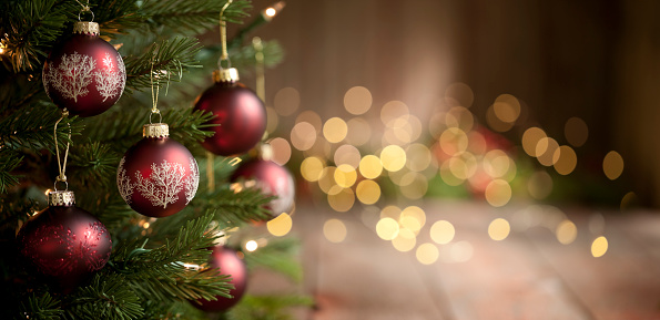 Celebration「Christmas Tree and Lights Background」:スマホ壁紙(14)