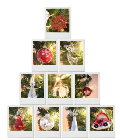 Instant Print Transfer「Christmas tree made of instant photo prints」:スマホ壁紙(11)