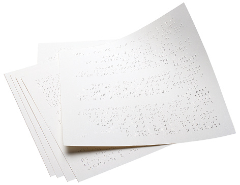 Braille「Pages with braille writing on them」:スマホ壁紙(5)
