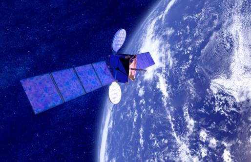 Planet Earth「Model satellite above earth (digital composite)」:スマホ壁紙(9)