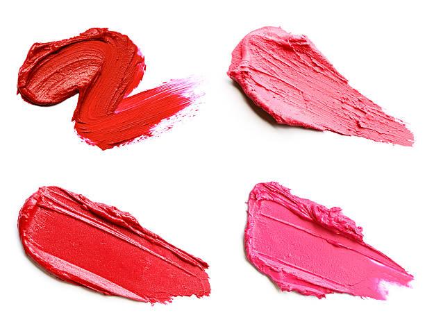 Red and pink lipstick smears:スマホ壁紙(壁紙.com)