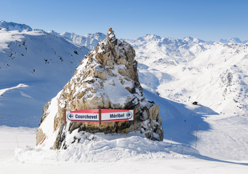 Ski Resort「Courchevel and Meribel Ski Signs」:スマホ壁紙(6)