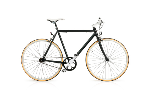 Black Color「Bicycle with Full Clipping Path」:スマホ壁紙(19)