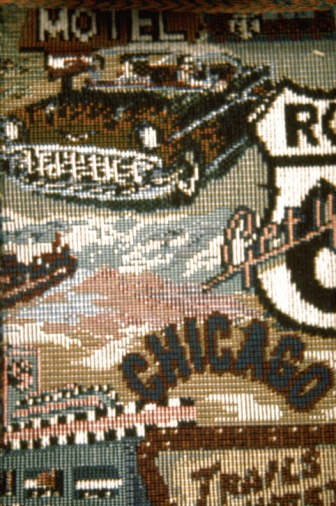 Cross-Stitch「Needlework pattern of cross-stitching with Route 66 motif」:スマホ壁紙(13)