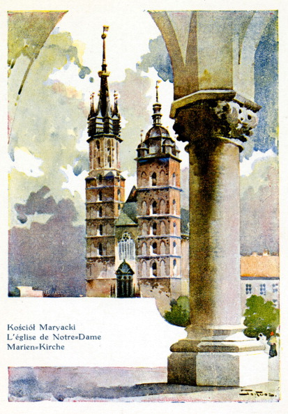 Culture Club「Krakow /  Cracow, Poland town scene -  St. Mary's Church painted by St. Tondos」:写真・画像(1)[壁紙.com]