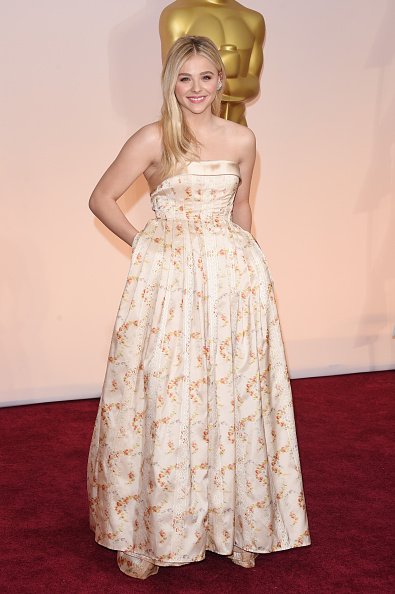 Floral Pattern Dress「87th Annual Academy Awards - Arrivals」:写真・画像(15)[壁紙.com]