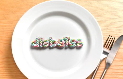 Single Word「Diabetes sweet on plate」:スマホ壁紙(9)