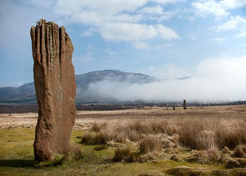 アーラン島「Machrie Moor Standing Stones」:スマホ壁紙(4)