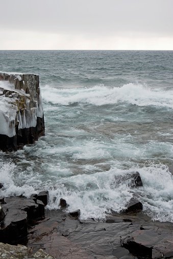 Great Lakes「Waves in lake superior in winter」:スマホ壁紙(3)