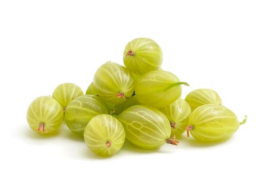 Gooseberry「Green gooseberries on a white background」:スマホ壁紙(0)