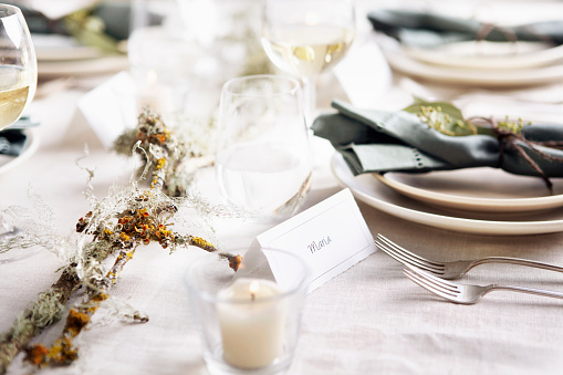 Table Runner「Table settings with place cards」:スマホ壁紙(16)