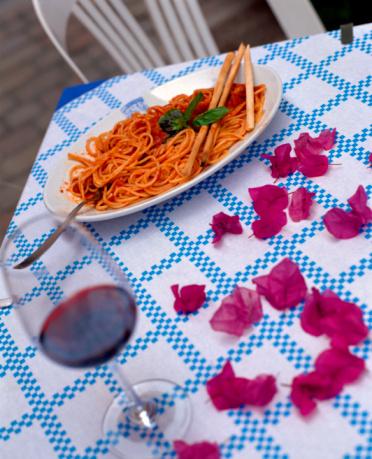 Lipari Island「Table setting with Italian cuisine」:スマホ壁紙(15)
