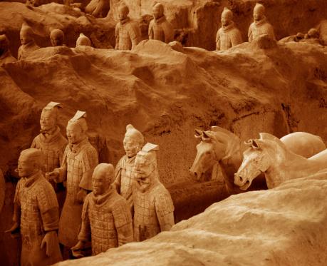 Horse「buried clay terra cotta warriors.」:スマホ壁紙(9)