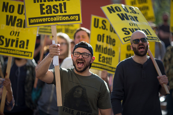 Middle East「Anti-War Protests Take Place Across Country After President Trump Ordered Airstrikes In Syria」:写真・画像(8)[壁紙.com]