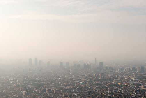 Heat Haze「Mexico City skyline and smog」:スマホ壁紙(5)