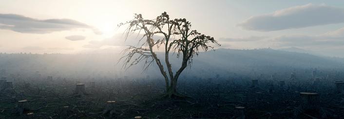 Digitally Generated Image「Deforestation」:スマホ壁紙(7)