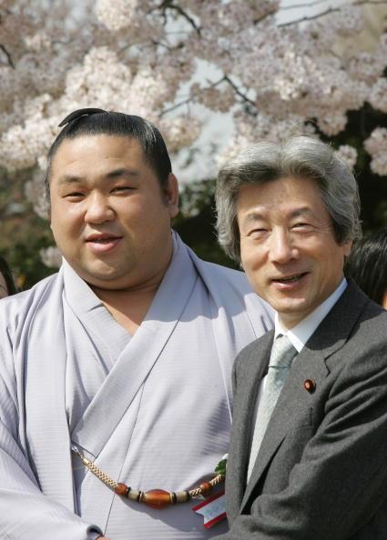 千代大海「Japanese Prime Minister Junichiro Koizumi Attends Cherry Blossom Event」:写真・画像(0)[壁紙.com]
