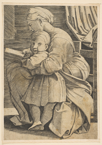Profile View「The Virgin Reading With The Infant Christ; Woman Seated In Profile Facing Left An」:写真・画像(9)[壁紙.com]