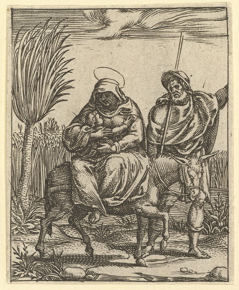 Storage Compartment「The Virgin Of Sorrows: The Flight Into Egypt; One Of Nine Surrounding Compartments From」:写真・画像(4)[壁紙.com]