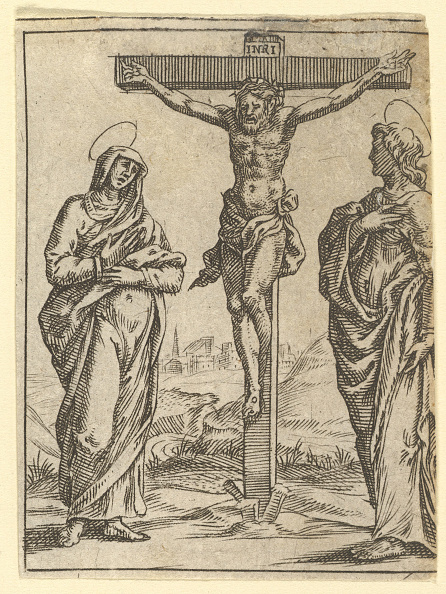 Storage Compartment「The Virgin Of Sorrows: The Crucifixion; One Of Nine Surrounding Compartments From The V」:写真・画像(3)[壁紙.com]