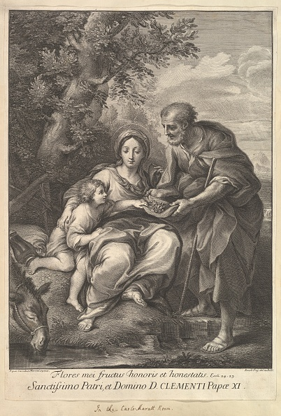 Etching「The Virgin And Joseph With The Young Jesus」:写真・画像(4)[壁紙.com]