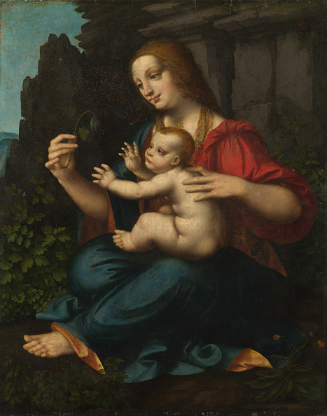 Painted Image「The Virgin And Child」:写真・画像(1)[壁紙.com]